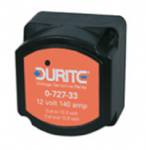 DURITE 140 Amp 12 Volt Split charge relay <br>Voltage Sensing<br>  ALT/0-727-33